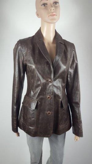 Timberland Damen Echtleder Jacke Lederblazer Jacket Vintage Größe S