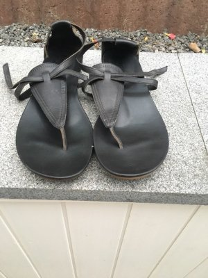 Timberland Toe-Post sandals black leather