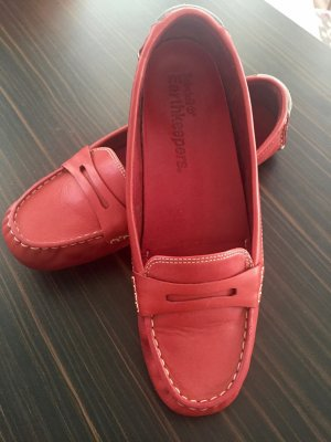 Timberland Moccasins red leather