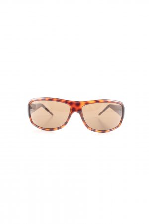 Timberland eckige Sonnenbrille braun-nude Allover-Druck Casual-Look
