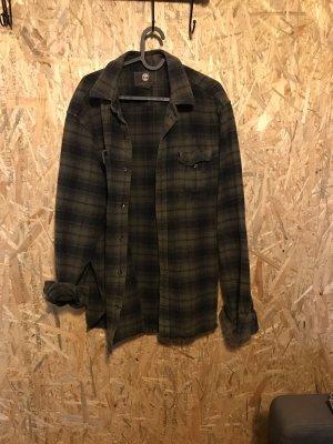 Timberland Flannel Shirt dark green-black