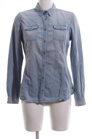 Timberland Jeansbluse blau Farbverlauf Casual-Look