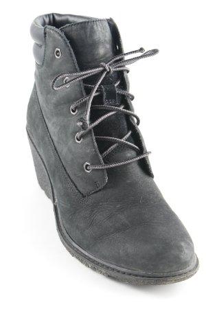 Timberland Keil-Stiefeletten taupe-schwarz Biker-Look