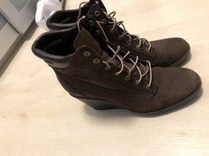 Timberland Keilabsatz Schuhe Leder braun Gr.40
