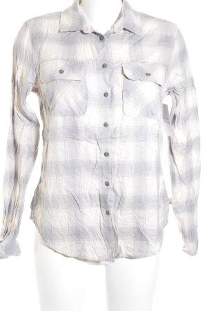 Timberland Langarmhemd creme-grau Kunstmuster Country-Look