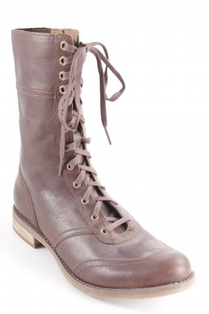 Timberland Lace-up Booties dark brown-light brown casual look