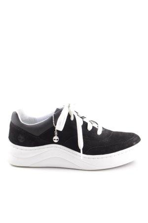 Timberland Schnürsneaker schwarz-weiß sportlicher Stil