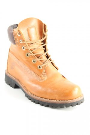 Timberland Botas con cordones coñac look Street-Style