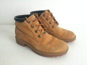 Timberland Schuhe Boots Stiefel Stiefeletten Leder Braun Camel Schwarz 37,5