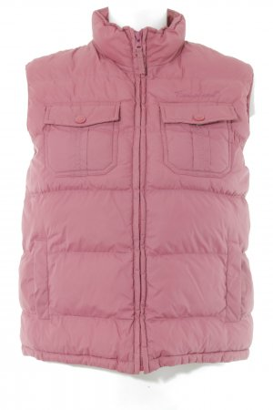 Timberland Quilted Gilet pink quilting pattern casual look
