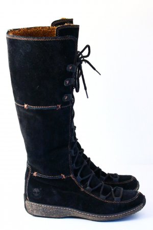 Timberland Lace-up Boots black suede