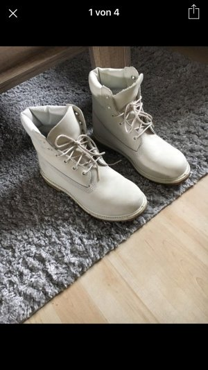 Timberland Chaussures gris clair-blanc cuir