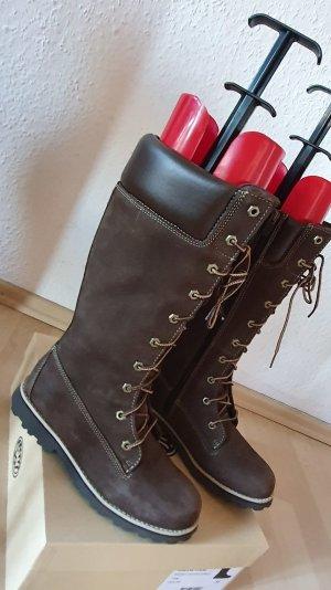 Timberland Botas con cordones marrón