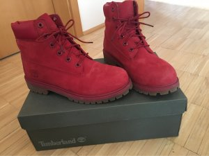 Timberland Buskins red-dark red leather