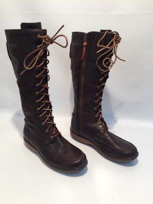 Timberland Botas con cordones marrón oscuro Cuero