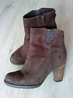 Timberland Zipper Booties black brown leather