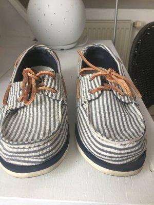 Timberland Stoff-Sneaker in blau-weiß gestreift
