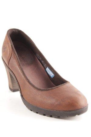 Timberland Zapatos Informales coñac-marrón look casual