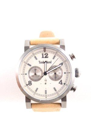 Timberland Uhr mit Lederarmband blassgelb Business-Look