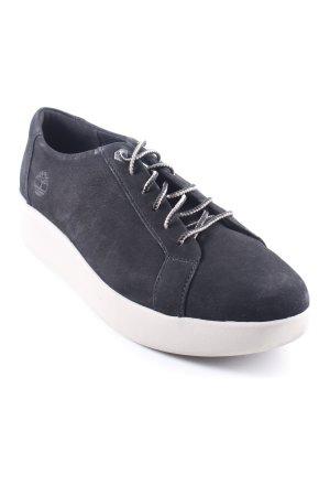 "Timberland Wedge sneaker ""Berlin Park Oxford Jet "" zwart"