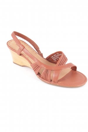Timberland Wedge Sandals light brown-cognac-coloured classic style