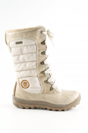 Timberland Winter Boots natural white-cream quilting pattern casual look