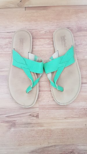 Timberland Toe-Post sandals green leather
