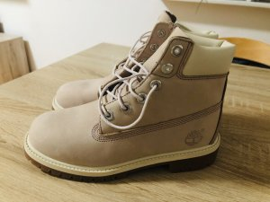 Timberland Lace-up Boots dusky pink leather