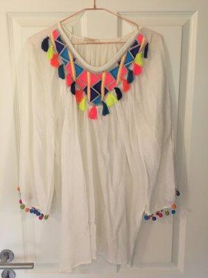 Tunic Blouse multicolored cotton