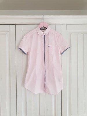Timeout XS Rosa weiß pink bluse hemd top buisness büro Streifen T-Shirt Tshirt Shirt pulli pullover