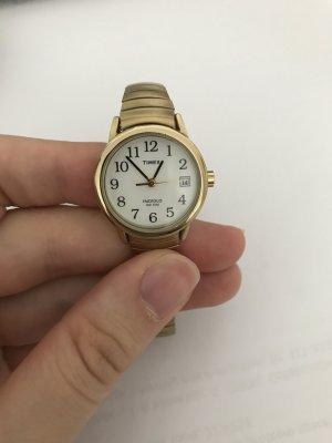 Timex goldene Armbanduhr - mit neu ausgewechselten Batterien