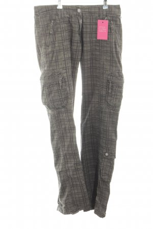 Timezone Baggy Jeans light grey-black check pattern athletic style