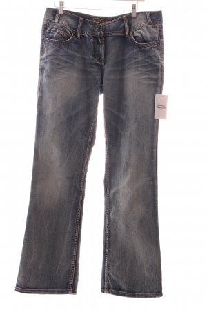 Timezone Boot Cut Jeans hellblau Washed-Optik