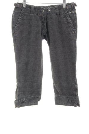 Timezone Pantalone Capri grigio scuro-marrone-grigio Pied de poule stile casual