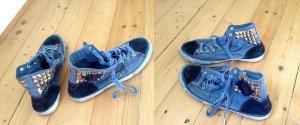 TIMEZONE Chucks HI Jeans Sneaker 39* Nieten dirty blau