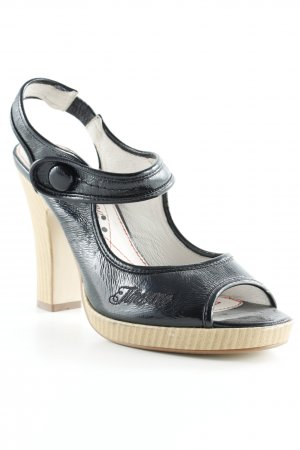 Timezone High Heel Sandaletten schwarz Rockabilly-Look