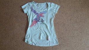 Timezone Shirt lindgrün mit buntem Vogel S