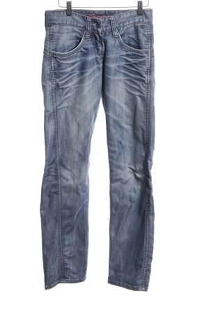 Timezone Slim Jeans blau Street-Fashion-Look
