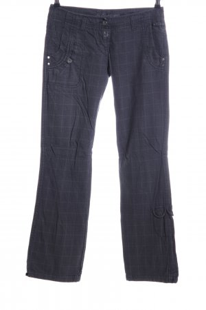 Timezone Straight-Leg Jeans blau Karomuster Casual-Look
