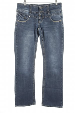 Timezone Straight-Leg Jeans blau Casual-Look