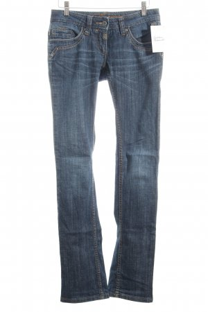 Timezone Straight-Leg Jeans dunkelblau Casual-Look