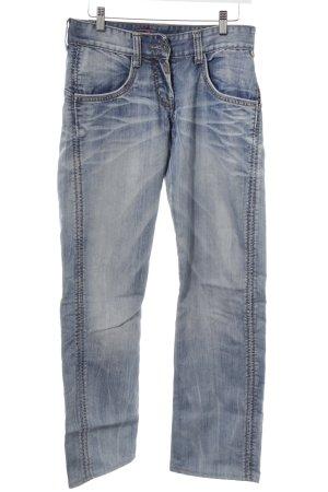 Timezone Straight-Leg Jeans hellblau-dunkelblau Casual-Look