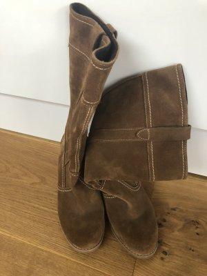 Heel Boots light brown-beige leather