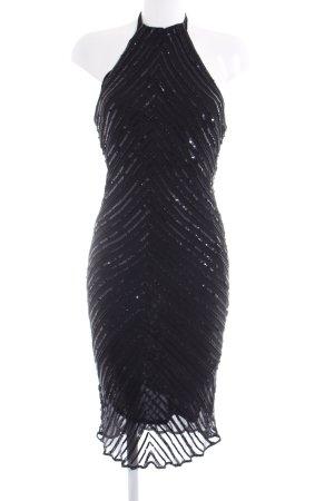Tintoretto Pailettenkleid schwarz Glanz-Optik