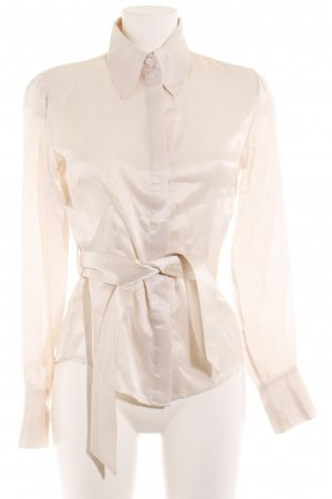 Tintoretto Seidenbluse creme Business-Look