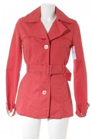 Tintoretto Trenchcoat rood casual uitstraling