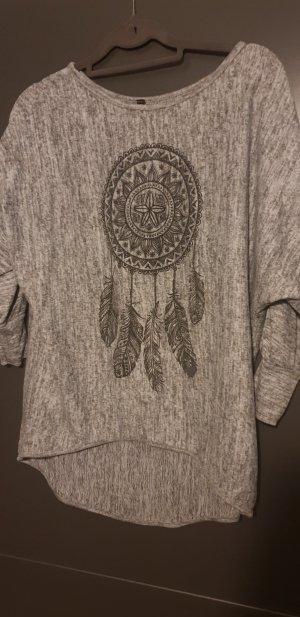 Boatneck Shirt grey-taupe