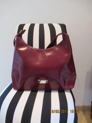 Tristano Onofri Crossbody bag dark red leather