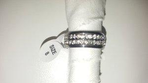 Partnerring zilver-wit