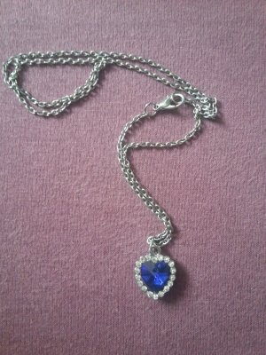 Necklace silver-colored-blue